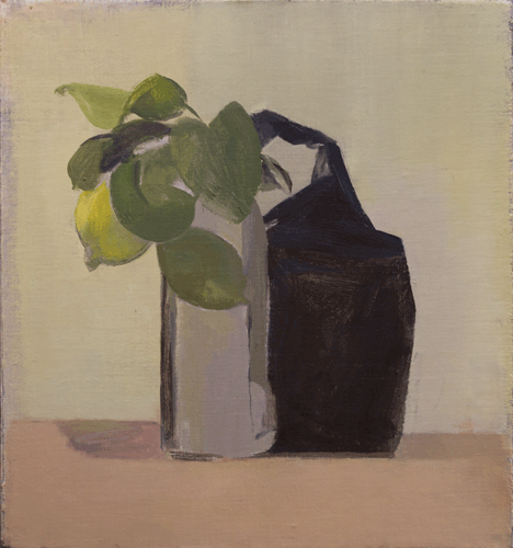 Still Life with Coffee Bag and Lemon
